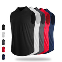 Wholesale gym t shirts for men - Sport Running T Shirt Men Breathable Quickly Drying Gym Fitness Tank Tops Outdoor Sport Clothing Sportswear for Team Customize Logos