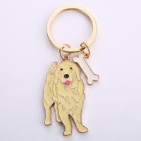 Wholesale bag golden plate for sale - Group buy NEW Golden Retriever Dog Animal Gold Silver Plated Metal Pendant Keychain For Bag Car Women Men Key Ring Love Jewelry GIFTS