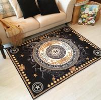 alfombras de salón al por mayor-Europa Estilo de Flores de Impresión Estilo Retro Alfombra Alfombra para el Dormitorio Sala de estar Cocina Baño Alfombra Alfombra Antideslizante para el Hogar alfombra