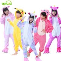 6c63b699a7 EOICIOI Pijamas De Franela Para Niños Set Invierno Con Capucha Animal  Unicornio Pikachu Stitch Pijamas Para Niños Niñas Ropa De Dormir Onesies  Y18102908