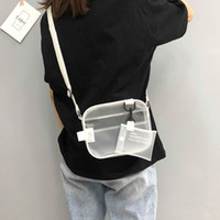 ingrosso borse bianche per l'estate-Estate 2 in 1 borsa femminile Zipper Bag Designer 2018 Ultime PVC Jelly Shoulder femminile bianco trasparente Messenger Fashion