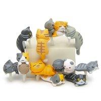 karikatür toz fişi toptan satış-Jiajia Kedi Serisi tükürük kedi 3.5mm genel karikatür cep telefonu toz tuzağı toptan