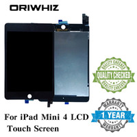 Wholesale ipad mini lcd screen replacement - New Arrival Assembly Replacement For iPad Mini 4 LCD Touch Screen Display Digitizer Glass without Homebutton and Glue