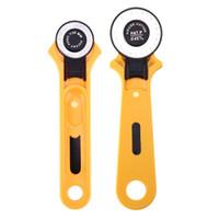 faca de patchwork venda por atacado-Rolo de retalhos roda redonda faca de corte de pano faca de corte de couro artesanato cortador rotativo28 / 45mm para tecidos de couro, etc