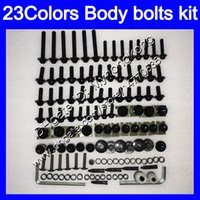 Wholesale 95 Zx9r Fairings - Fairing bolts full screw kit For KAWASAKI NINJA ZX9R 94 95 96 97 ZX-9R 9 R ZX 9R 1994 1995 1996 1997 Body Nuts screws nut bolt kit 23Colors