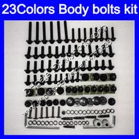 97 kit de carenado ninja zx9r al por mayor-Kit completo de tornillos de carenado para KAWASAKI NINJA ZX9R 94 95 96 97 ZX-9R 9 R ZX 9R 1994 1995 1996 1997 Tuercas de cuerpo tornillos kit de perno tuerca 25 colores