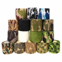 4pcs 5CM*4.5M Camouflage Stretch Bandage Camping Hunting Military Camo Tape Wrap