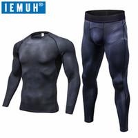 Wholesale Outdoor Thermal Underwear - IEMUH Brand Outdoor Sports Men Winter Spring Thermal Underwear Breathable Quick Dry Fitness Hiking Ski Men Long Underwear Suit
