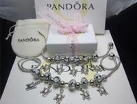Wholesale Brand New Pandora Bracelet - 2018 New Luxury Pandora 925 Bracelet Fashion Bracelet necklace Brand Designer Holiday Gift New Design Heart With Box