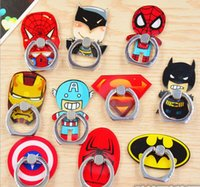 Wholesale mobile phone charm rings resale online - Cute Cartoon Finger Ring Mobile Phone Holder Stands Cool Cartoon Superman Spider man