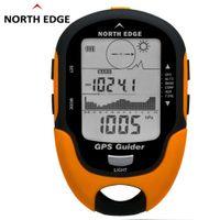rastreador gps de viaje al por mayor-NORTH EDGE GPS Tracker Navegador Receptor Portátil USB recargable con brújula electrónica para viajes al aire libre