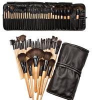 en iyi profesyonel makyaj fırçaları seti toptan satış-PU çanta 32 Adet Set Profesyonel Makyaj Fırça Vakfı Göz Gölgeler Rujlar Pudra Makyaj Fırçalar Araçları en iyi kalite logo yazdırabilirsiniz