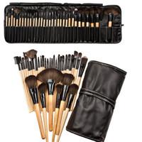 auge kann großhandel-PU tasche 32 Stücke Set Professionelle Make-Up Pinsel Foundation Lidschatten Lippenstifte Pulver Bilden Pinsel Werkzeuge beste qualität können logo drucken