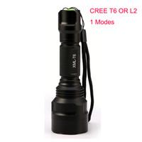 batteries c8 t6 achat en gros de-1 mode c8 led Q5 / T6 / L2 lampe torche tactique cree XML T6 XM-L2 torche led Mode de lumière flash étanche Fonctionne par 1pcs 18650 batterie