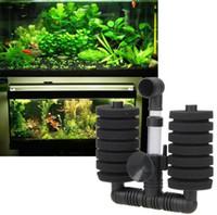 Wholesale aquarium air filters - Aquarium Filter Fish Tank Air Pump Skimmer Biochemical Sponge Filter Aquatic Pet Products Hot Sale EEA123