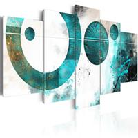 soyut panel tuvali baskılar toptan satış-Amosi Sanat Tuval Baskı Duvar Sanatı Soyut Geometrik Dekoratif boyama Duvar Resmi Ev Oturma Odası Dekor için Gerilmiş Çerçeveli Yapıt