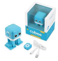 brinquedos eletrônicos presentes venda por atacado-RC Cubee Robô F9 Inteligente Robô de Dança brinquedo Eletrônico Andando Brinquedos NO App controle Robô Presente Para Crianças Brinquedo Educação