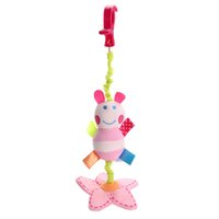 Wholesale baby rattle color for sale - Group buy Pink Color Animal Bee Newborn Baby Rattles Crib Stroller Bed Lathe Hanging Baby Plush Toys Cartoon Cute Children Musical Toys