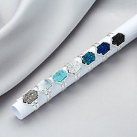 Wholesale women s wedding rings for sale - Hot Sale Designer druzy Rings women s Geometric Faux natural stone Silver Gold Plated adjustable Rings For female Fashion Brand Jewelry