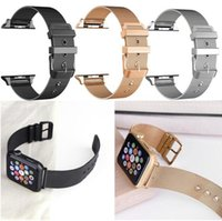 Wholesale silver mesh belts resale online - Milanese strap for apple watch band mm mm stainless steel metal bracelet mesh belt watchband for iwatch serise