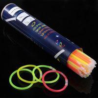 luces de neón al por mayor-7.8''Multi Color Hot Glow Stick Pulsera Collares Fiesta de neón LED Parpadeante Varita de luz Varita Novedad Juguete LED Concierto vocal LED Flash Sticks