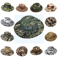 Wholesale winter hunting camouflage - Camo Hat Outdoor Men's Hunting Mesh Suns Hat Camouflage Fishing Caps Multi-Color Choice 32 Styles Support FBA Drop Shipping G667F