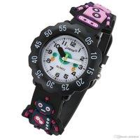 ingrosso orologio impermeabile dei ragazzi-Kid Watch 3D Cartoon Robot 30m impermeabile Lovely Kids Girls Ragazzi Bambini studenti orologio da polso al quarzo Orologio da polso molto popolare orologio sportivo