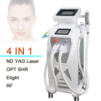 Wholesale ipl rf laser - 2018 stationary multifunction ipl laser rf face lift tattoo hair removal machine elight opt shr rf nd yag laser ipl