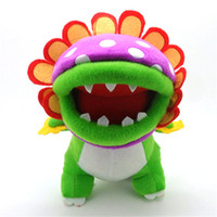 Wholesale piranha toys resale online - EMS Super Mario Bros Piranha CM Plush Doll Stuffed Best Gift Soft Toy