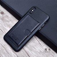 ingrosso custodia in pelle nera iphone 6s-Custodia per telefono di alta qualità per iPhone 8 6S più Custodia da 5,5 pollici Uomini Custodia rigida in cuoio vintage nero con supporto