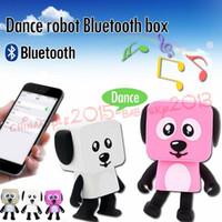 Wholesale Dancing Dog Bluetooth Speakers Portable Mini Electronic Robot Stereo Speakers Electronic Walking Toys With Music Wireless Speaker