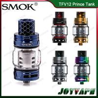 tanques sub ohmios auténticos al por mayor-Auténtico SMOK TFV12 Prince Tank Cloud Best King 8 ml de gran capacidad Sub ohm atomizador con tubo de vidrio convexo para G-PRIV 2 100% original