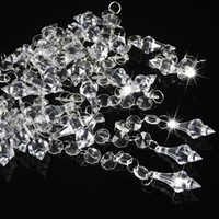 Wholesale beads for decoration string resale online - 30pcs Wedding Decoration Crystals Acrylic Octagonal Beads String Prisms Garland Chandelier Hanging Curtain For Home Party