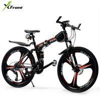 складывающиеся велосипедные диски оптовых-Новый бренд X-Front 26 дюймов колесо 21/24/27 скорость рама из углеродистой стали горный велосипед открытый скоростной складной велосипед bicicleta MTB