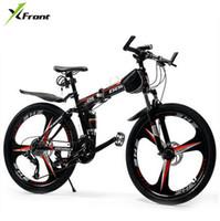 12 inçlik bisiklet jantları toptan satış-Yeni X-Ön marka 26 inç tekerlek 21/24/27 hız karbon çelik çerçeve dağ bisikleti açık downhill katlanır bicicleta MTB bisiklet