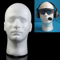 Wholesale head hat stand for sale - Group buy Male Styrofoam Mannequin Manikin Foam Head Model Glasses Hat Wig Display Stand