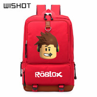 Wholesale pink laptops for kids - WISHOT Roblox game casual backpack for teenagers Kids Boys Children Student School Bags travel Shoulder Bag Unisex Laptop Bags