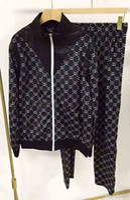 ingrosso migliori vestiti invernali per gli uomini-Migliore marca di stilista di lusso 2019 Autunno Inverno abbigliamento uomo rosso verde a righe Tute stampa cerniera giacca cappotto felpa.
