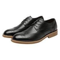 homens sapatos casuais coreano venda por atacado-Melhor vender FS003 2018 verão novos sapatos de couro dos homens tendência Coreano Bullock business casual Britânico Retro Mens Couro sapatos atacado quente