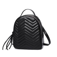 Wholesale Beat Phones - Factory outlet brand package street beat wave pattern leather chain bag fashion leather backpack all-match wavy circular single shoulder