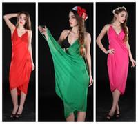 vestido de toalla caliente al por mayor-Bohemia gasa Pure Color Maxi Dress Protección solar sin respaldo Camisole chales Bufanda Hot Spring Seaside Wrap Skirt Toalla de playa 7af gg