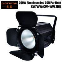 Wholesale 25 auto - TIPTOP Stage Light TP-P67 200B White COB Led Par Light Tyanshine Original Barndoor Rotate 35 Degree Reflect Cup Power IN OUT Connector
