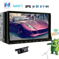 Wholesale car android rearview online - In Dash Car dvd player Android Double Din Car Radio Video Audio Stereo system Wifi Bluetooth Mirrorlink GPS Navigation Headunit Rearview