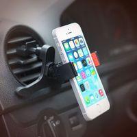 esnek evrensel telefon araba tutacağı yuvası toptan satış-Evrensel araç tutucu iphone X 8 7 artı cep cep telefonu için 360 derece esnek hava firar dağı tutucu soporte movil araba GPS