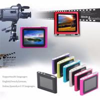 lcd mp4 media player venda por atacado-6ª Geração MP4 Player Portátil de 1.8 Polegada Tela de LCD Display de Mídia Filme de Vídeo FM Rádio MP4 Player 16 GB Fácil de Transportar