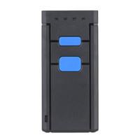 cor do leitor de código venda por atacado-Freeshipping Mini Sem Fio Bluetooth Barcode Scanners Barcode Scanners CCD Leitor de Código de Barras Portátil Sem Fio de Um Tamanho de Luz Vermelha