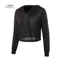 Wholesale Sleeveless Hoodie T - Mermaid Curve Hollow out Thin Hoodies T-shirt Women Outerwear Run Yoga Hooded Tops Long Sleeved Shirts Fitness Sweatshirts