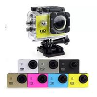 жк-экран для камеры шлема оптовых-Самая дешевая копия для SJ4000 A9 стиль 2-дюймовый ЖК-экран мини-Спортивная камера 1080P Full HD Action Camera 30 м водонепроницаемый видеокамеры шлем спорт DV