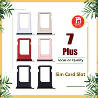 Wholesale nano iphone online – custom For Apple iPhone Plus Nano Sim Card Tray Holder Slot Replacement Jet Black Rose Gold Silver Black Gold Color Adapter Socket Accessories