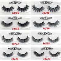 Wholesale 3d hair extensions resale online - 100 handmade Mink D HAIR false eyelash D mink thick fake eyelashes Makeup beauty False Eyelashes Extension Handmade DHL